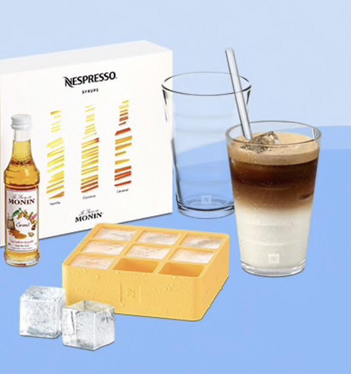 Nespresso View Iced Kit Glasses Spoons Ice Tray Home