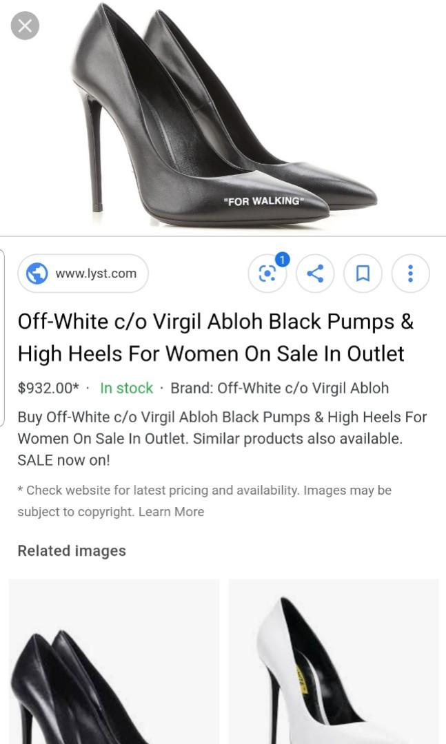 Off White Heels - Black and white - For