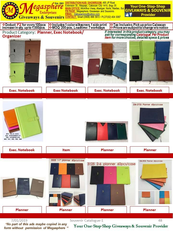 Planner, Diary, Executive Notebooks Giveaways Souvenirs Promotional Items Corporate Giveaways