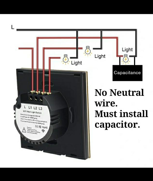 Smart wall switch Wifi connection Ewelink/ Sonoff app