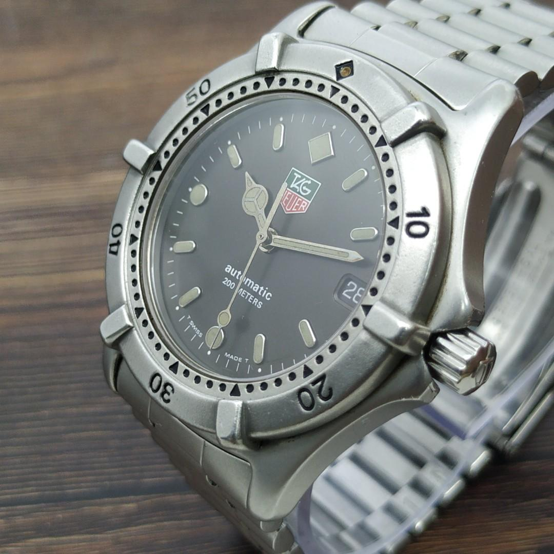 TAG Heuer 2000 reff 669.206F Automatic swiss jam tangan antik asli original murah langka