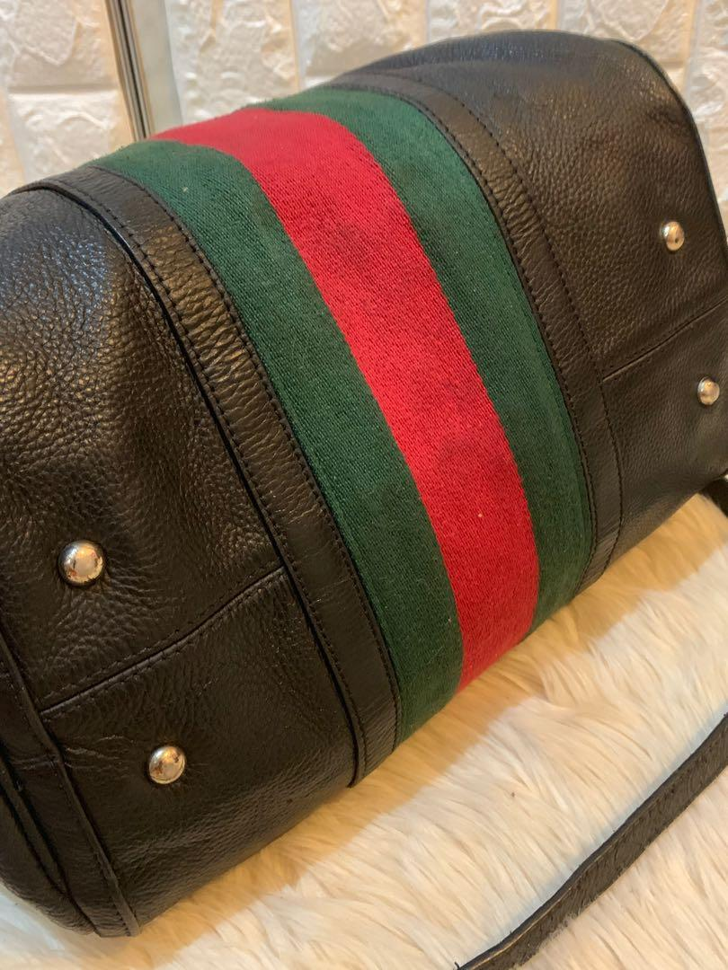 Tas tangan Gucci speedy authentic full leather with sling 32 x 25 x 20 cm cantik elegan