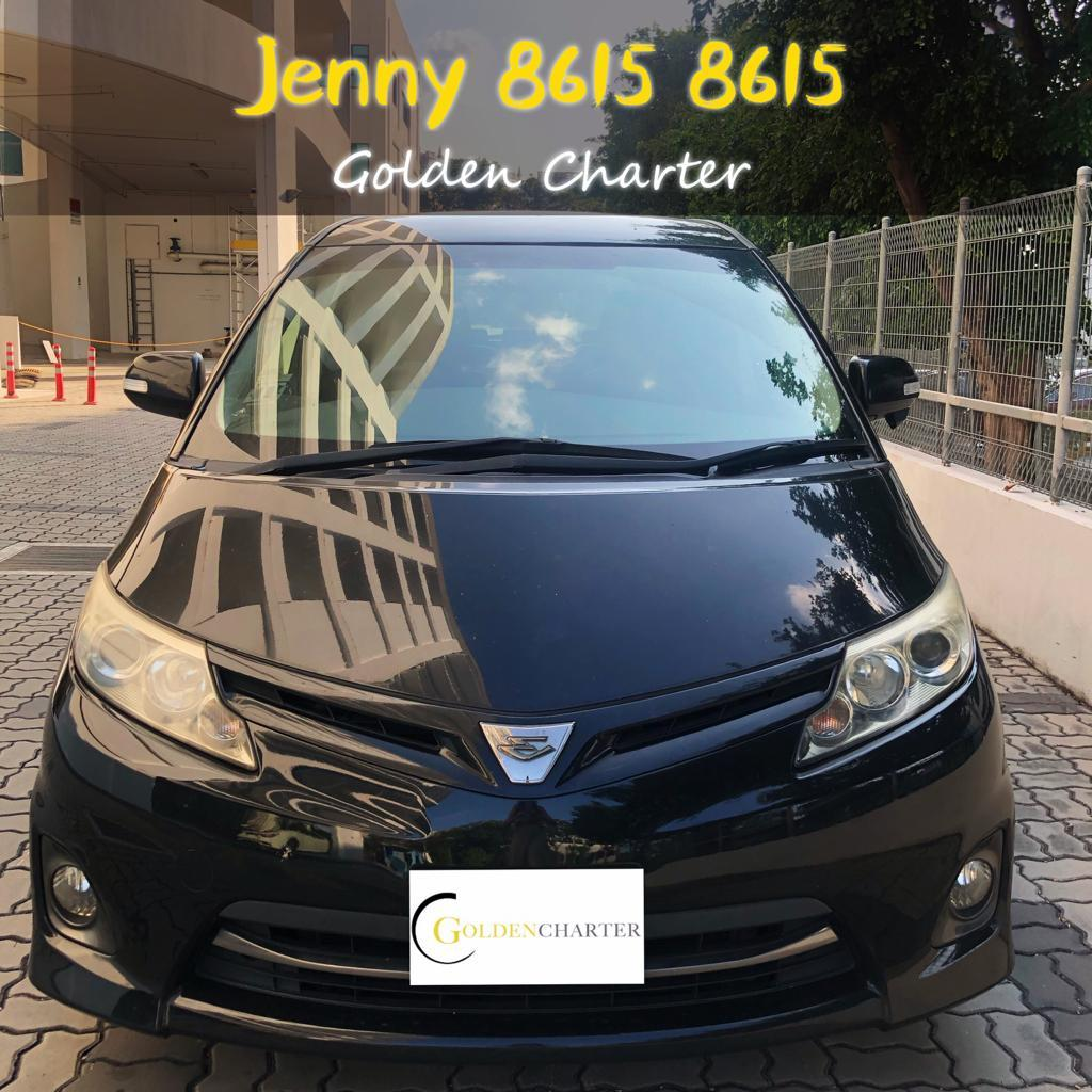 TOYOTA ESTIMA *7 seater mpv*Toyota Vios Wish Altis Car Axio Premio Allion Camry Honda Jazz Fit Stream Civic Cars Hyundai Avante $50 perday PHV  For Rent Grab Rental Gojek Or Personal Use Low price and Cheap