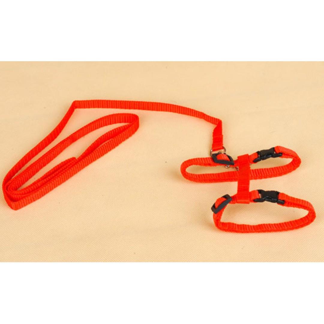 TPE028 Adjustable Nylon Small Pets Leash Harness Belt (For kittens fun pets)