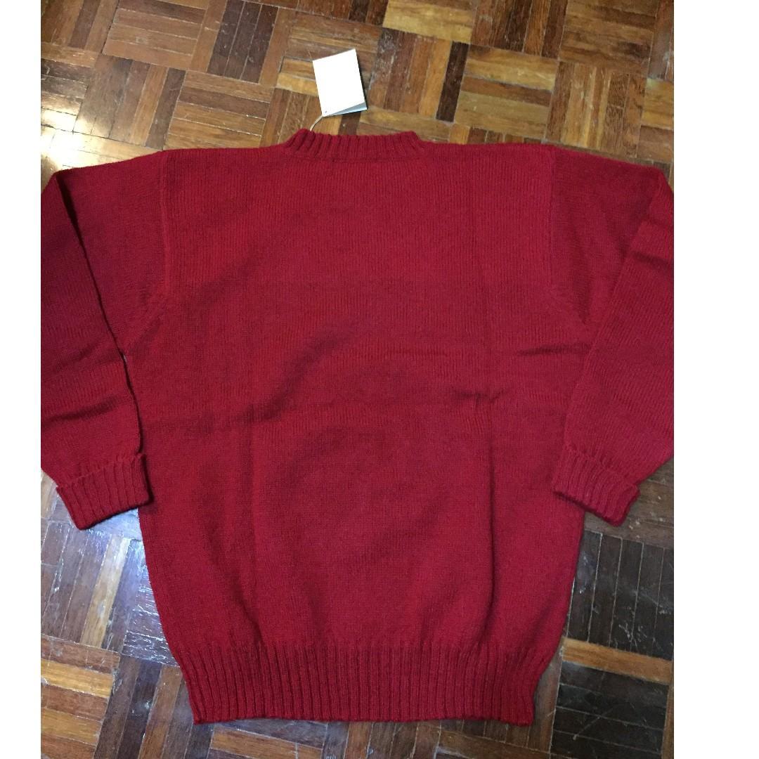 Vintage Ralph Lauren Polo Bear SAMPLE Red Sweater M