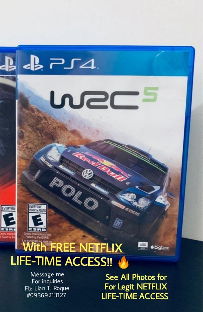 WRC 5, with Lifetime Netflix Access  on Carousell
