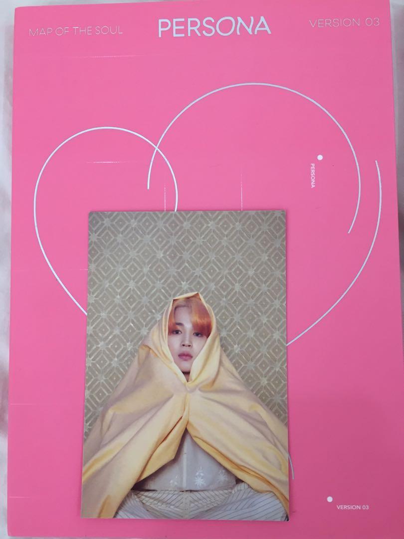 [wts] bts mots persona albums ver 3 & 4 + postcard