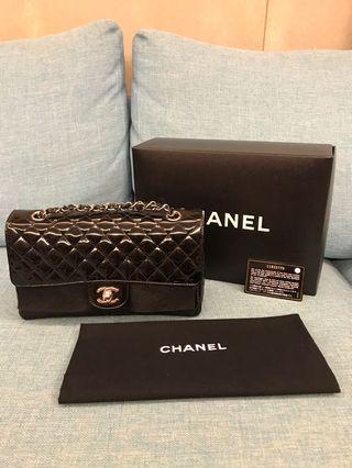 🗯加速出清 最終降價 不議!Chanel 限量 coco 25 黑色 漆皮 銀鍊 肩背包 側背包