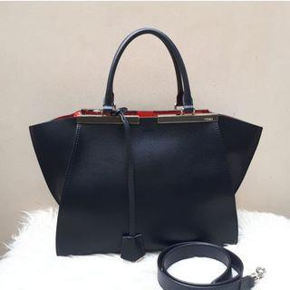 Fast Sale!! Very Good Condition FENDI 3Jours Medium in Black-Red