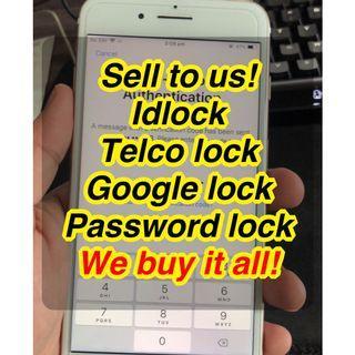 Saya beli telco lock / idlock / google lock fon