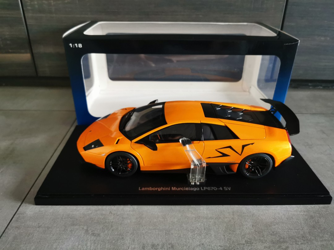 1 18 Autoart Lamborghini Murcielago Lp670 4 Sv Arancio Atlas Orange 74617 Custom China Sv Interior Calipers Everything Else On Carousell