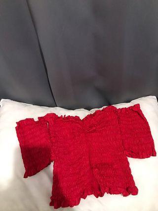 Sabrina top red