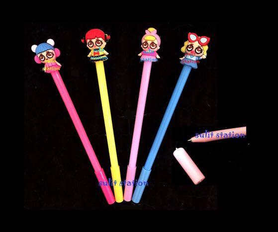 12pcs LOL SURPRISE DOLL GIRLS INK GEL PEN PARTY GIVEAWAYS SOUVENIRS FAVOR NEED SUPPLY