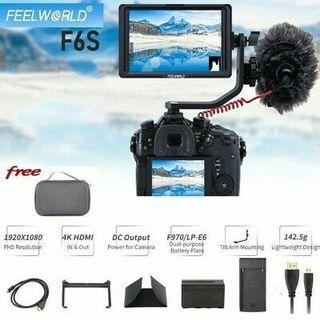 Feelworld f6s 5in 4K HDMI 1920x1080P IPS LED Camera Field Stabilizer Monitor