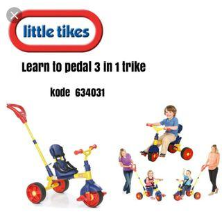 Little tikes 3 in 1 tricycle selling in 200 rm pedal ride