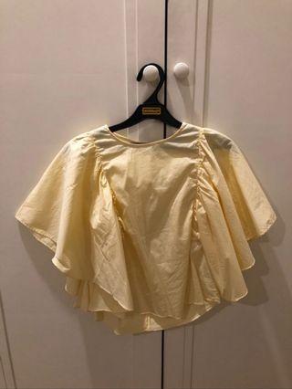Tshirt zara yellow