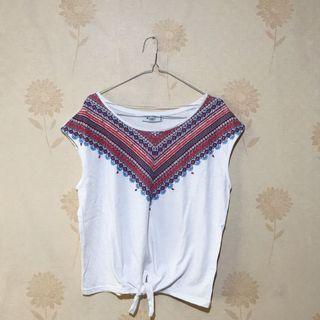 White Bohemian Top (Kaos Putih)