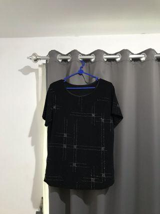 Kaos bling bling black tshirt