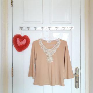 #joinagustus PREMIUM Lace with Blink Blouse - - Baju Atasan Wanita Murah