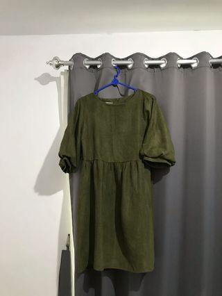 Dress army oversized dress