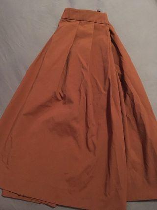 Light Brown Uniqlo Skirt