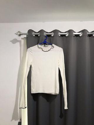 Zara knit top white knit top longsleeve