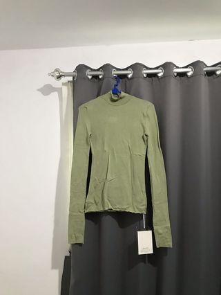 Green salem turtle neck turtleneck long sleeve hijau salem army
