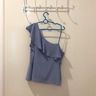 Blue Frill Top
