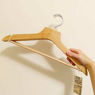 全新 無印良品 薄型天然木衣架 一組3支裝