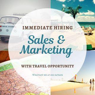 Immediate Hiring fo Sales & Marketing