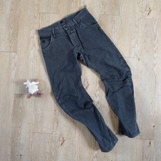 G-Star raw 牛仔褲 3D 立體剪裁 仿舊 微刷破 深灰色 32腰