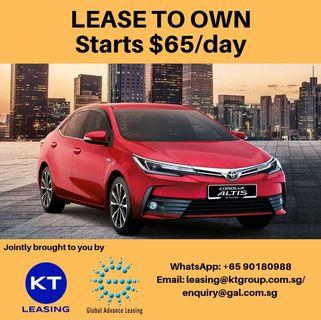 Lease to Own $65/day