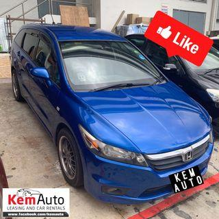 Sporty Electric Blue Honda Stream 1.8A for Cheap rental GOJEK GRAB RYDE personal
