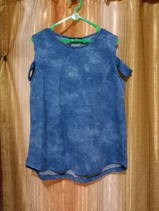 Blue Top - Baju Atasan
