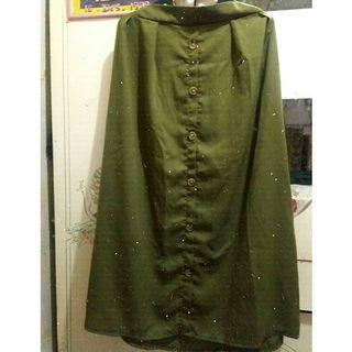 Army Skirt Rok Panjang Satin Bottoms Bawahan Setelan #LalaMoveCarousell #HBDCarousell