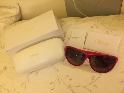 Chloe經典紅框墨鏡 太陽眼鏡