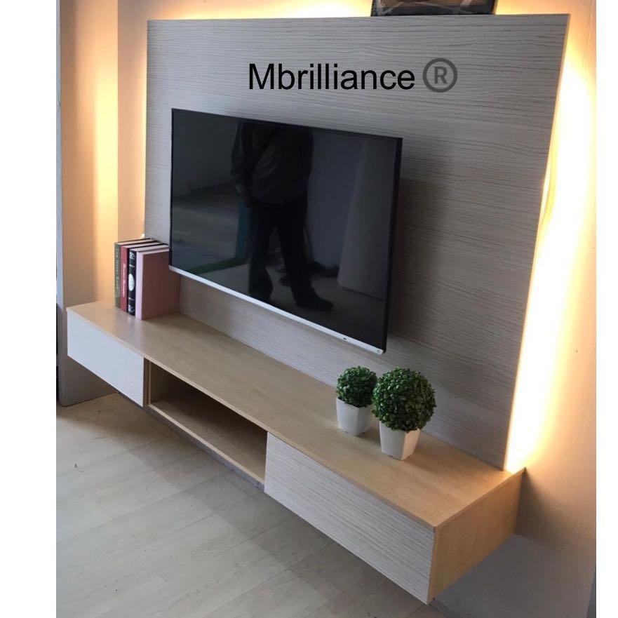 Tv Console Feature Wall Mounted Cabinet