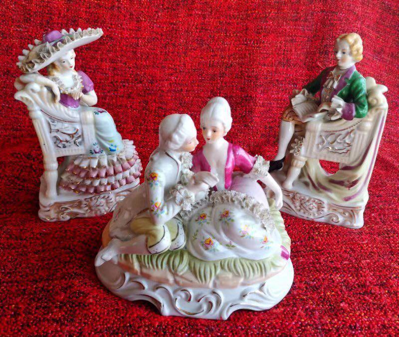 3 set antique dolls