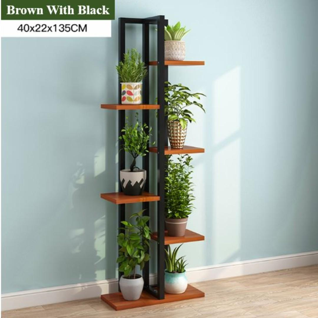 6 Tire Wooden Plant Rack/Flowers Stand For Garden (4 Colours)