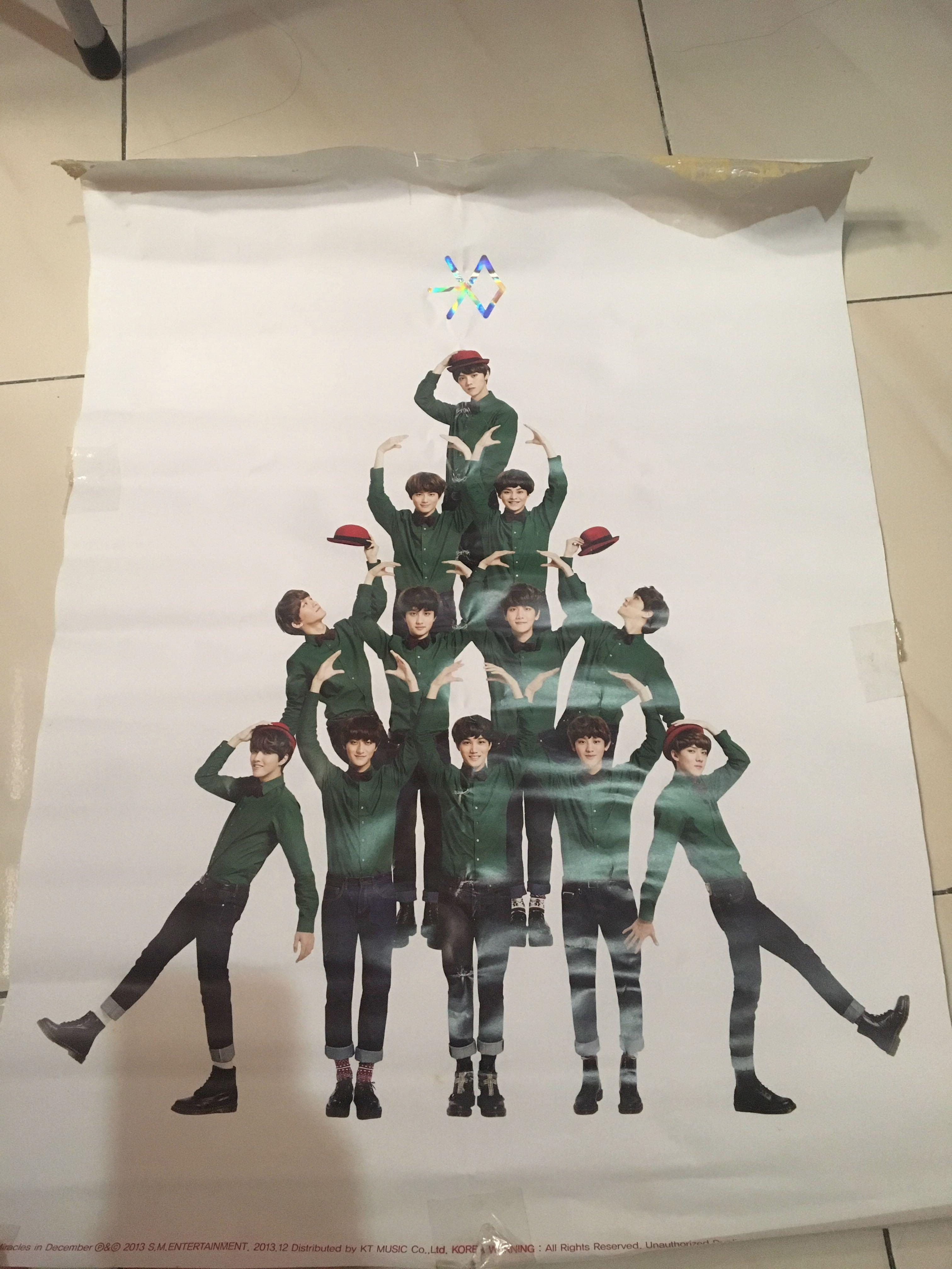 ALBUM EXO - Miracle in December Red Ver. (WITH POSTER)