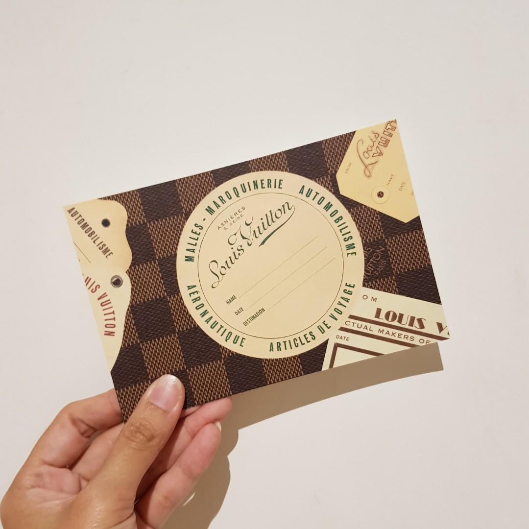 Authentic Louis Vuitton World Travel Sticker Postcard (The Louis Vuitton)