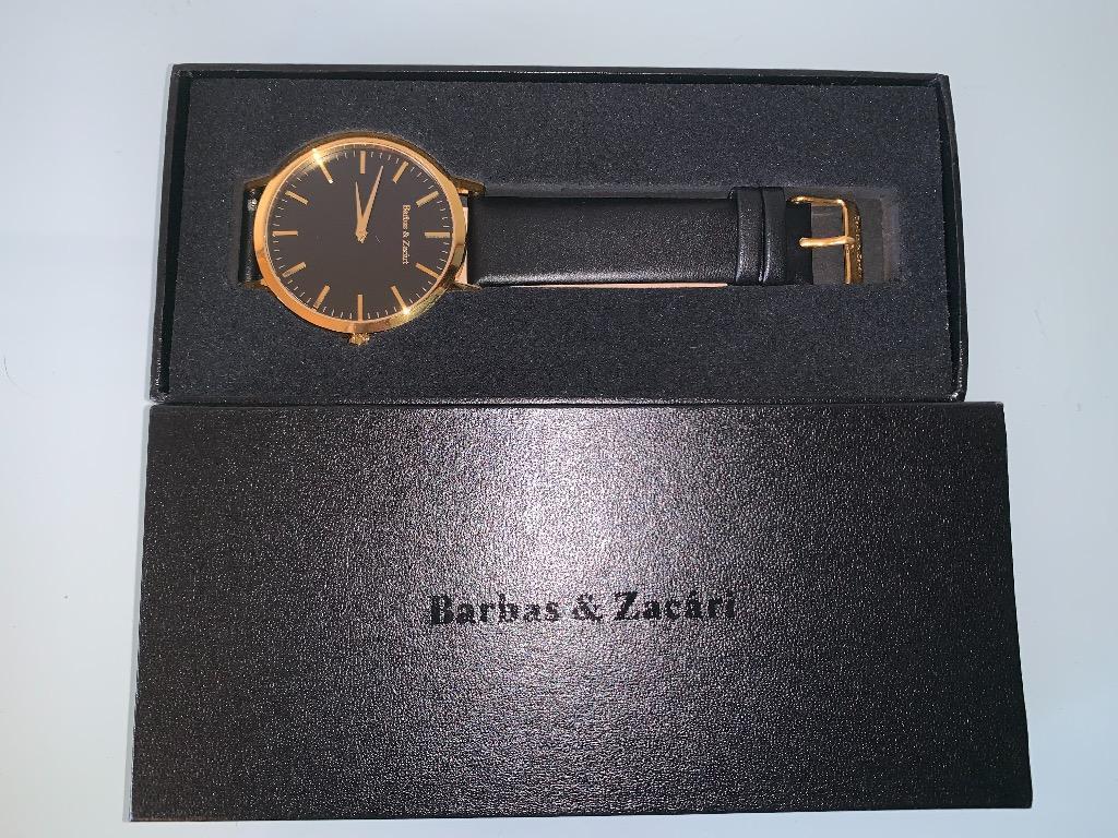 "Barbas & Zacári black/gold ""Goldy"" watch (water resistant)"