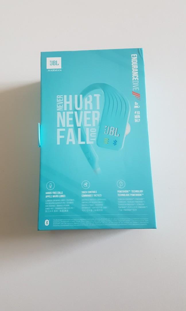BNIB JBL Endurance DIVE Waterproof Wireless Headphones MP3 Player