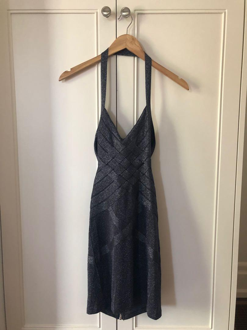 Bodycon Dress w/ Adjustable Back Strap & Zipper Closing