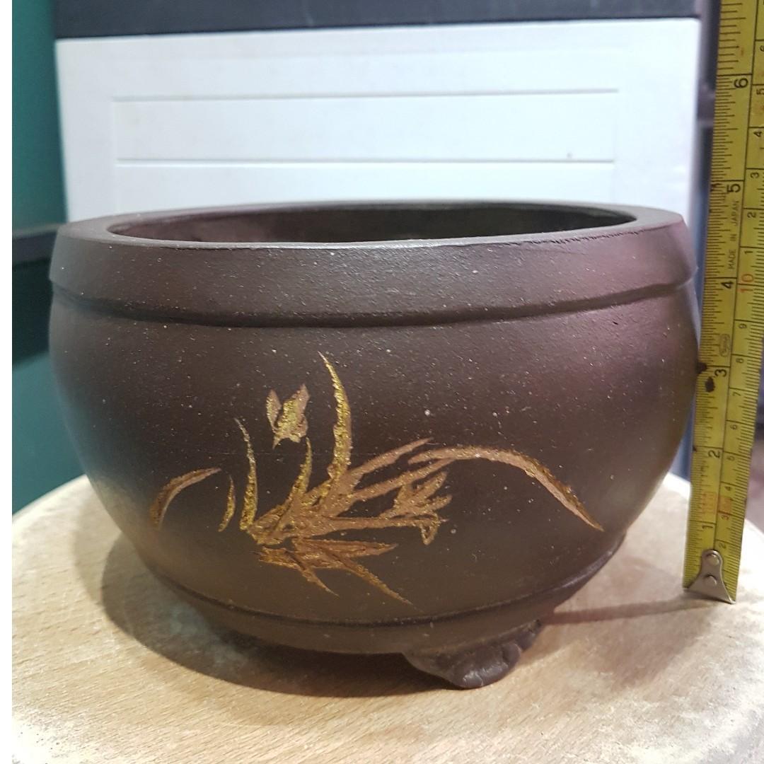 Bonsai plant flower pot