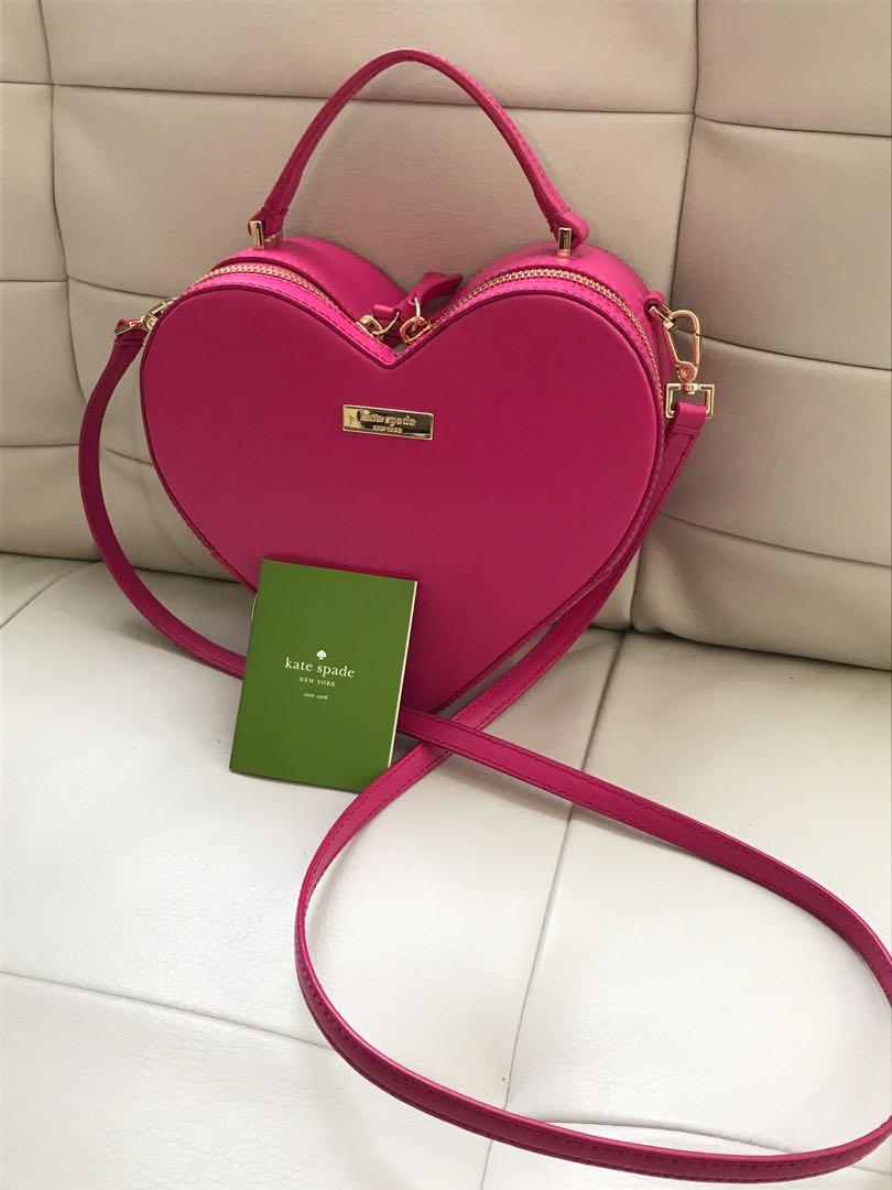 Brand New Authentic Kate Spade Heart Leather Crossbody Bag