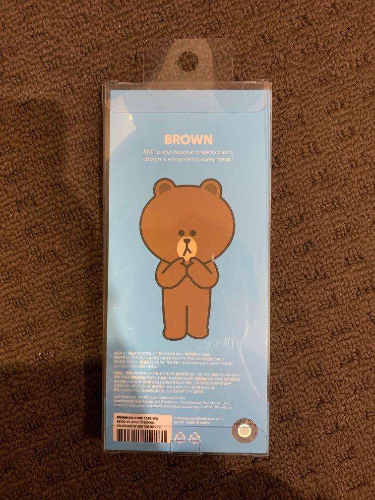 brand new case for Xs dan X brown line friends