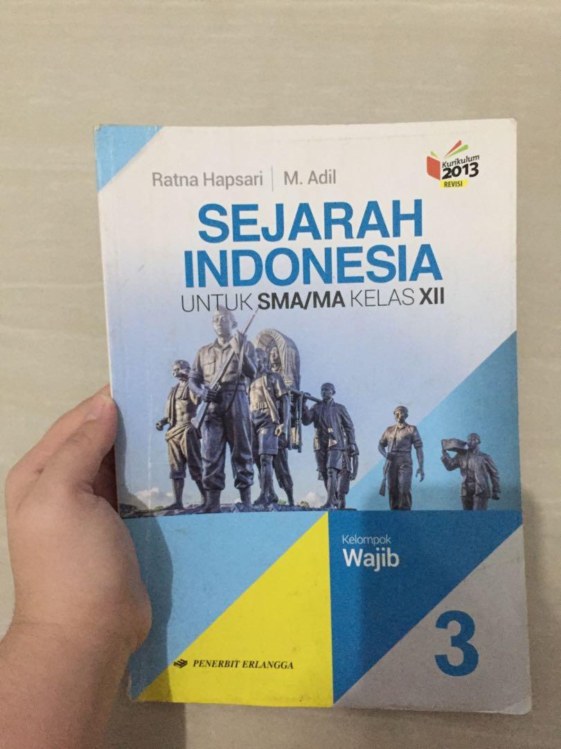 Buku Sejarah Indonesia Kelas 12 Erlangga - Guru Ilmu Sosial