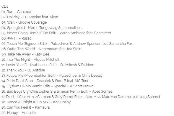 CD European Top 40 Dance Chart Cascada DJ Antoine Free Shipping