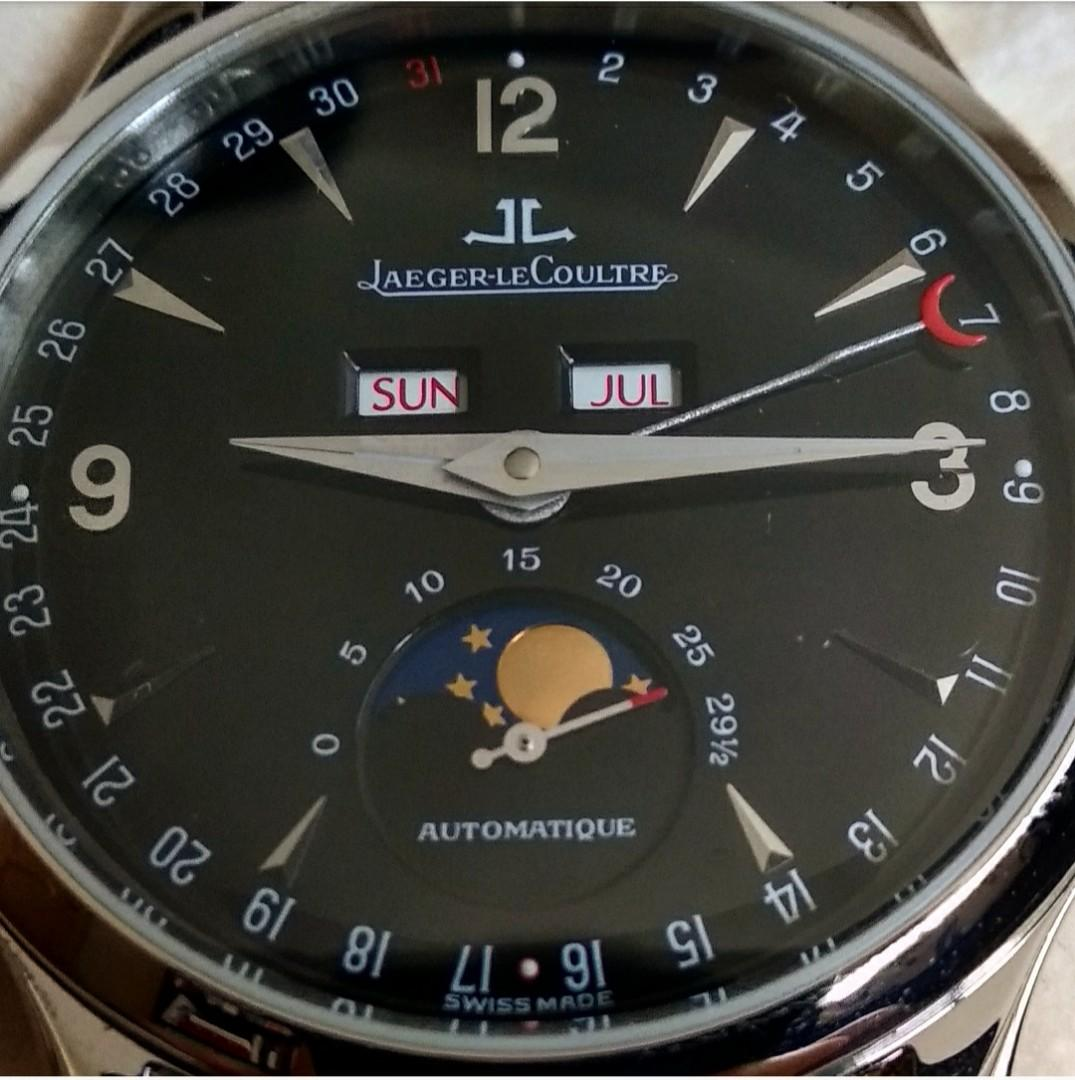 Jaeger LeCoultre JLC Master Moon Triple Calendar 140.8.98.S Full Set Serviced May 2019